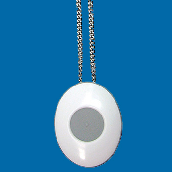 personal alarm with neck chain