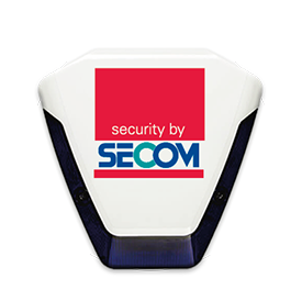 A SECOM bell box in a white circle